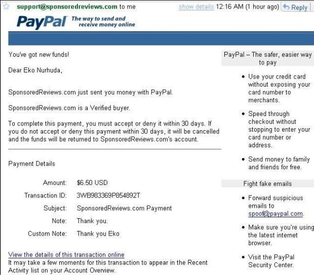 dolar pertama dari internet