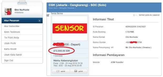 tiket Jakarta-Solo