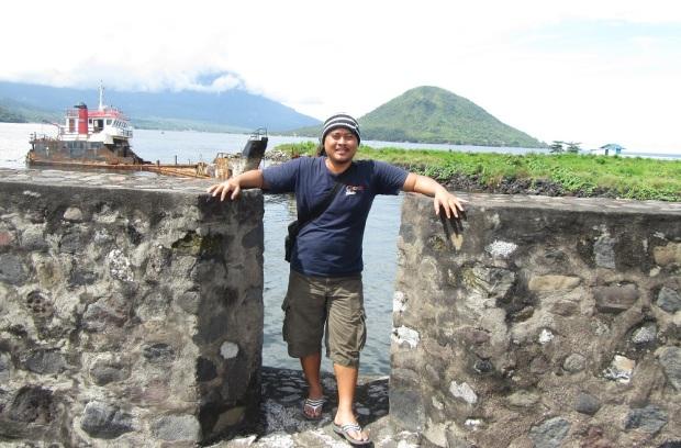 Eko Nurhuda di Benteng Kalamata Ternate