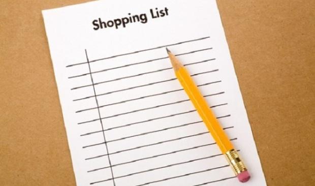 daftar belanja shopping list