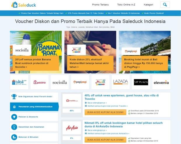 Saleduck homepage
