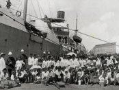 Rombongan imigran Jawa pertama di Suriname, 1890.