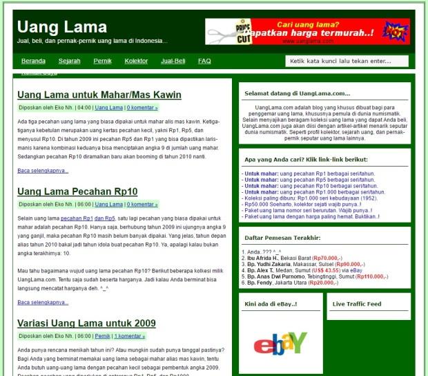 Blog uanglama.com Juni 2009