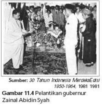 Pelantikan Sultan Zainal Abidin Syah sebagai Gubernur Papua Barat.