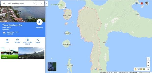 peta Kota Tidore Kepulauan