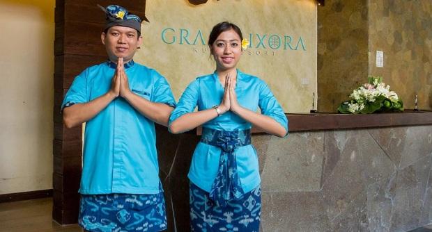 resepsionis Grand Ixora Kuta Resort