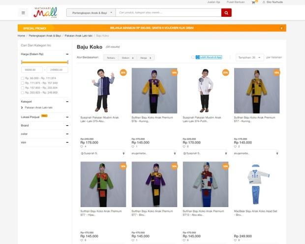 baju koko anak MatahariMall.com