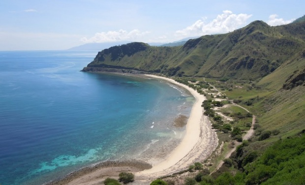 One Dollar Beach di Dili, Timor Leste