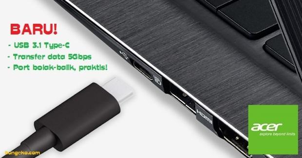 Port USB Acer Switch Alpha 12