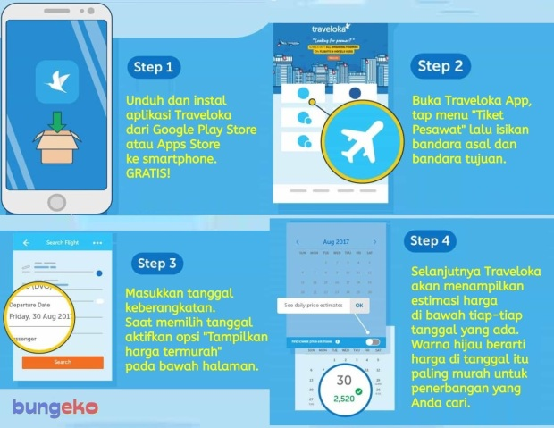 Fitur best price finder Traveloka