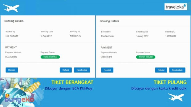 Booking details Traveloka