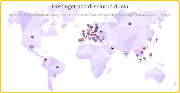 Hostinger di seluruh dunia, 2017.