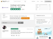 Hostinger reviews at TrustPilot.com