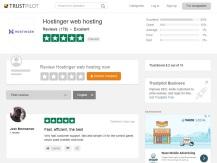 Hostinger reviews at TrustPilot.com