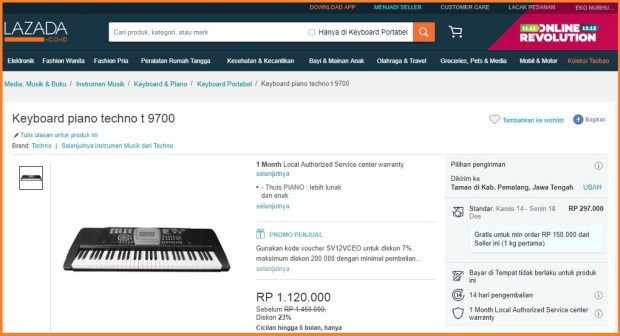 Keyboard Techno T9700 di Lazada