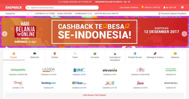 situs ShopBack.co.id