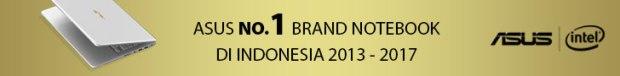 ASUS brand notebook no. 1 di Indonesia 2013-2017