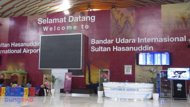 Lobi ruang tunggu Bandara Sultan Hasanuddin