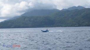 Nelayan di dekat Pelabuhan Perikanan Nusantara Ternate