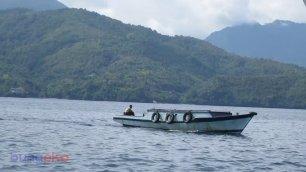 Perahu kayu di dermaga Pelabuhan Perikanan Nusantara Ternate