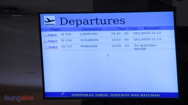 Sriwijaya Air delay