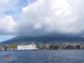Kota Ternate tersaput mendung