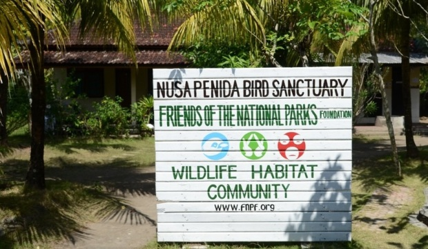 Pintu masuk Friends of the National Park Foundation,  Nusa Penida.