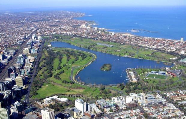 Albert Park aerial view