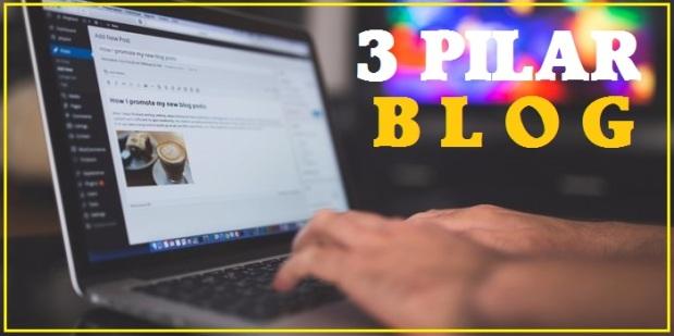 tiga pilar penting blog