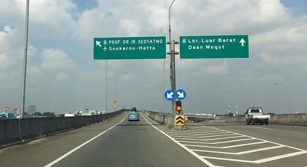 Jalan tol bandara Soekarno-Hatta