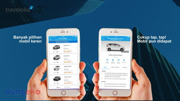 aplikasi rental mobil Traveloka