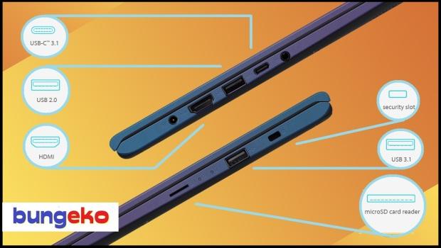 ASUS VivoBook Ultra A412DA connectivity ports