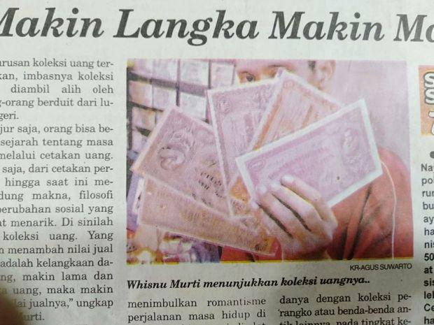 Pak Wishnu masuk koran Keddaulatan Rakyat