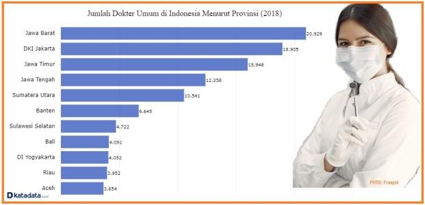Persebaran dokter umum di Indonesia