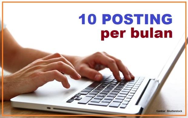 10 Posting per bulan