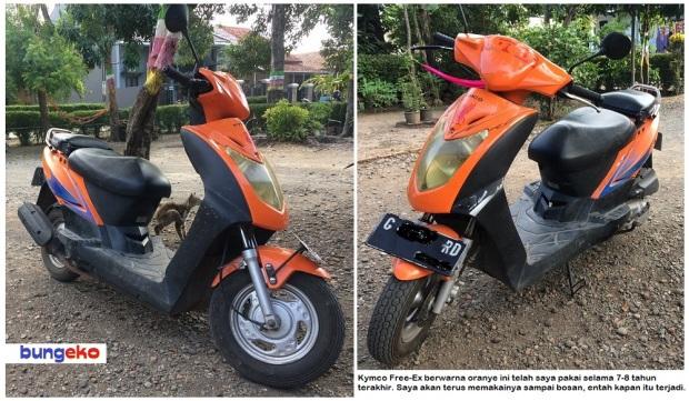 Kymco Free-Ex oranye
