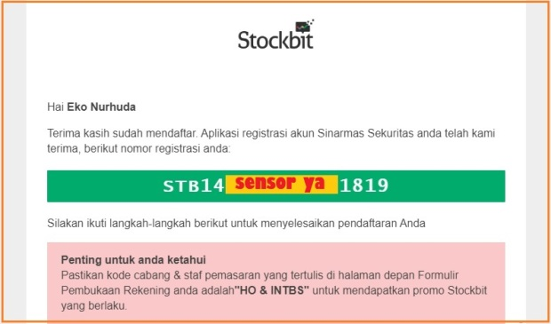 Stockbit registration
