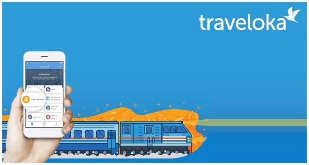 Tiket kereta api aplikasi Traveloka