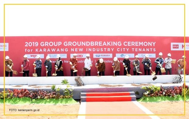 Karawang New Industry City groundbreaking ceremony 2019