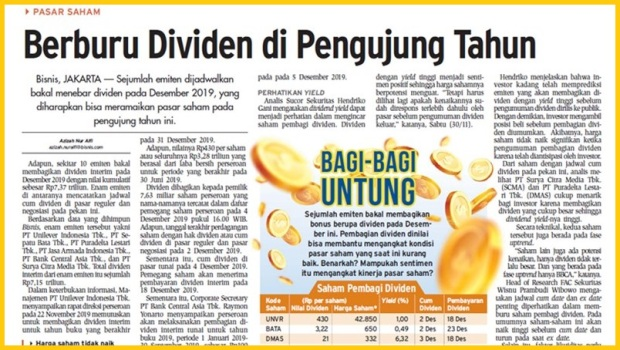 Berburu dividen saham
