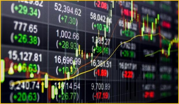 Papan chart harga saham