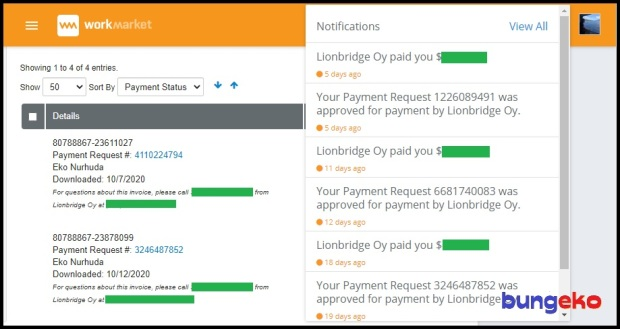 Lonbridge payment in WorkMarket