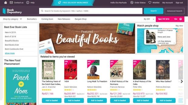 BookDepository homepage