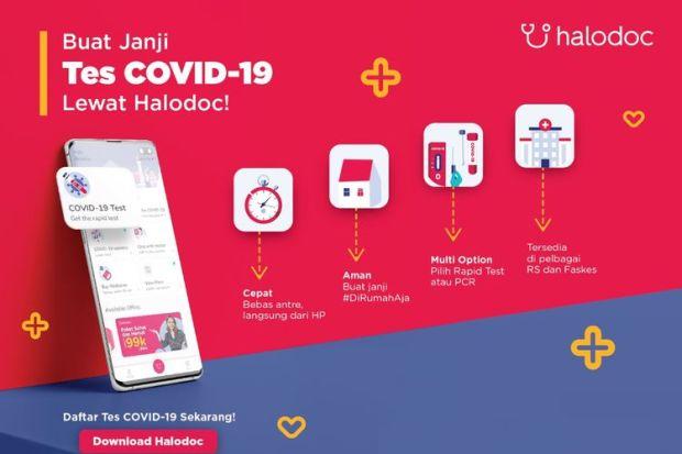 Tes Covid-19 via HaloDoc