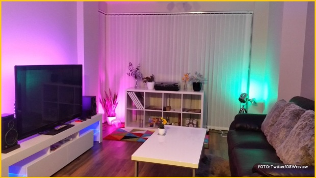 smart lamp room setting
