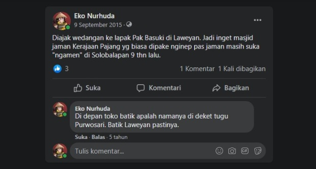 Status Facebook bungeko